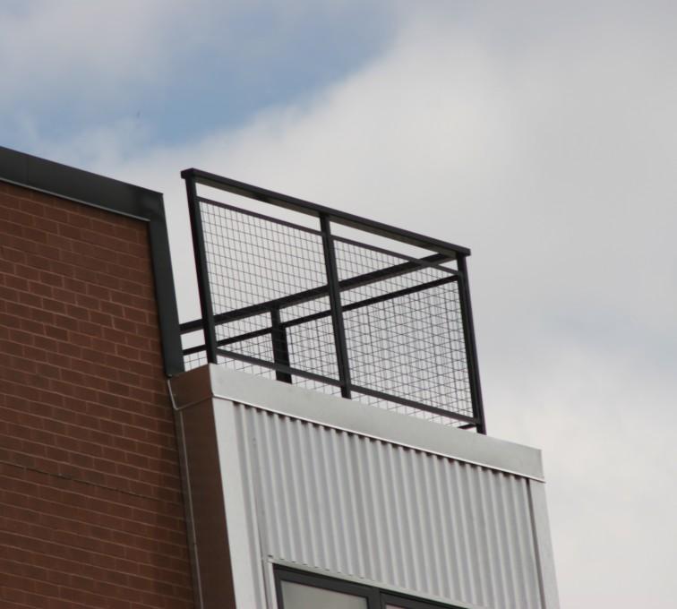 AFC Ames - Custom Railing, 2201 Railing with mesh infill