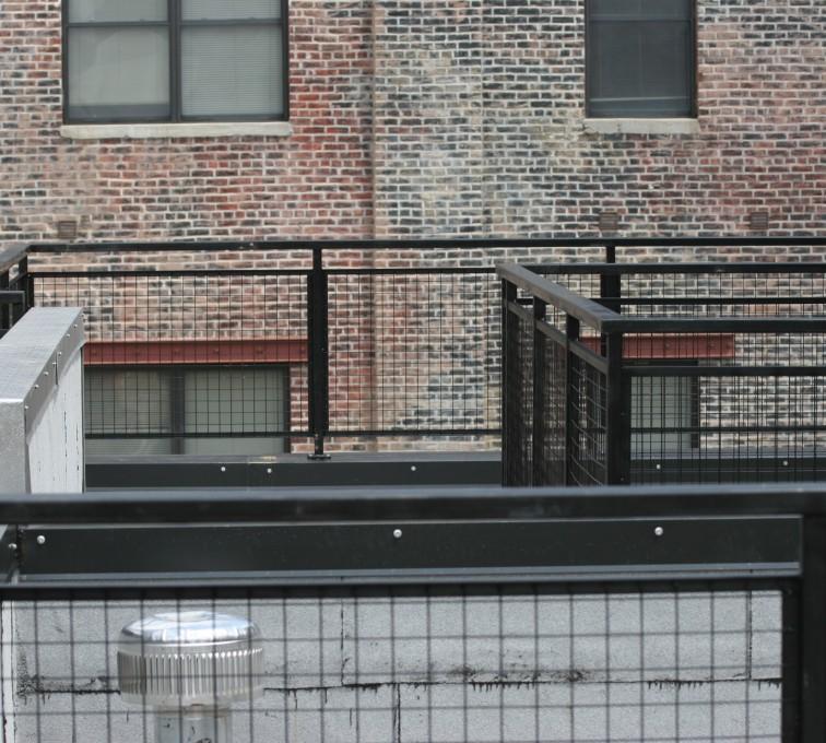 AFC Ames - Custom Railing, 2204 Railing with mesh infill