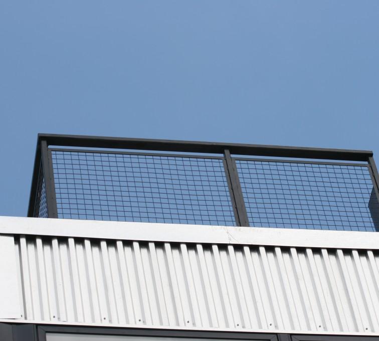 AFC Ames - Custom Railing, 2206 Railing with mesh infill