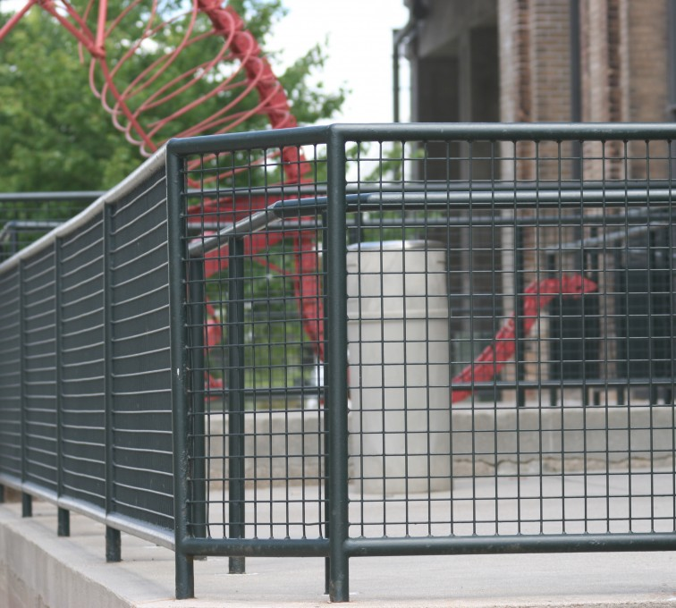 AFC Ames - Custom Railing, 2207 Railing with heavy mesh infill