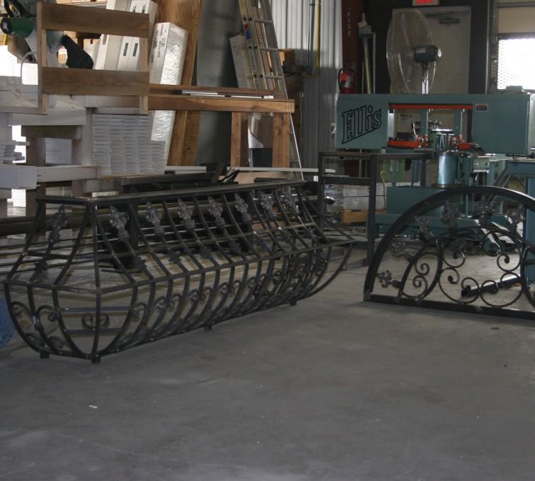 AFC Ames - Custom Railing, 2217 Balcony Railing In Fabrication