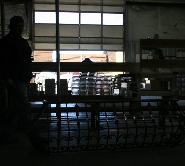 AFC Ames - Custom Railing, 2218 Balcony Railing in Fabrication