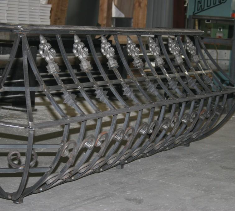 AFC Ames - Custom Railing, 2219 Balcony Railing in Fabrication