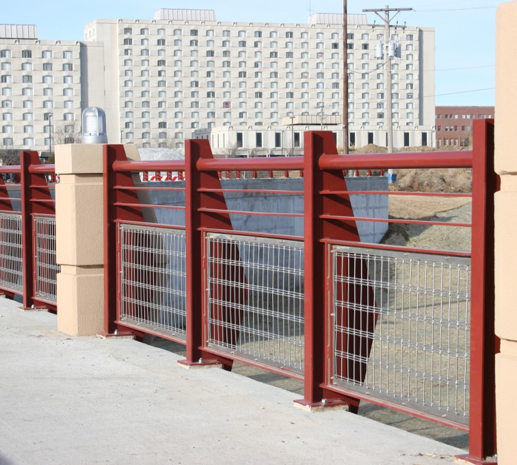AFC Ames - Custom Railing, 2223 Stainless in-fill Railing