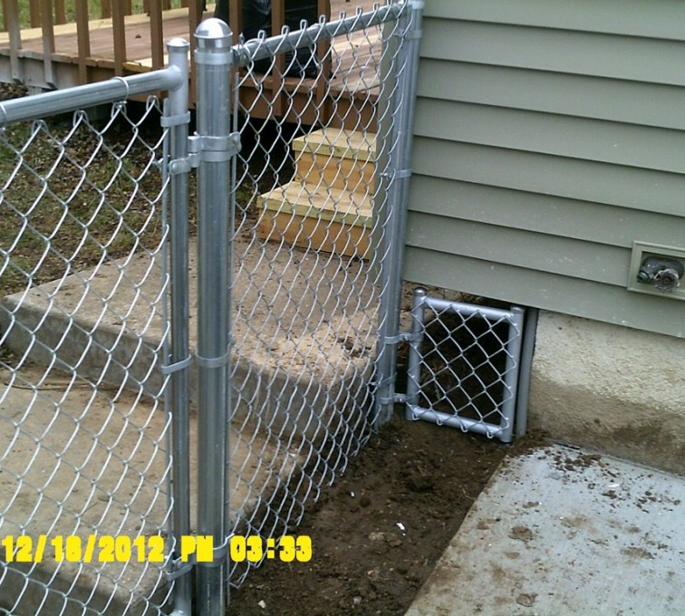 AFC Ames - Chain Link Fencing, 4' Galvanized Chain Link With Custom Panel - AFC - IA