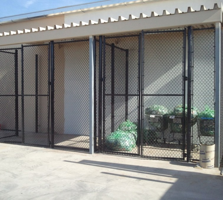 AFC Ames - Chain Link Fencing, 8' Chain Link Recycling Enclosure - AFC - IA