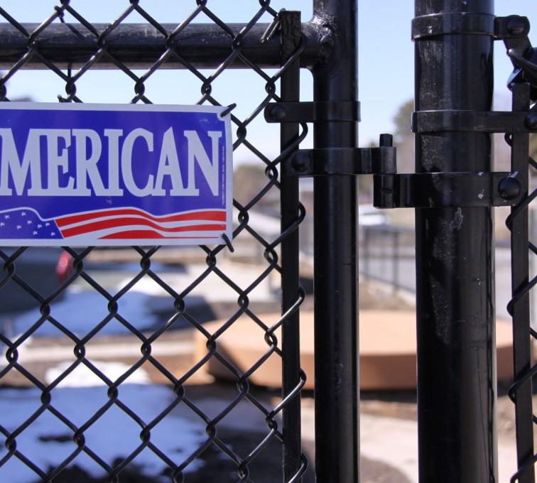 AFC Ames - Chain Link Fencing, Black Vinyl Chain Link Gate