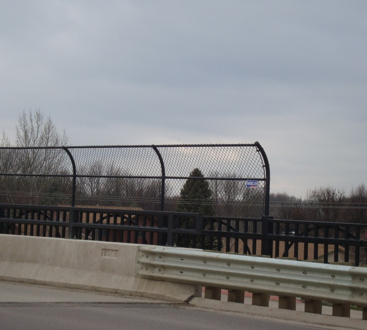 AFC Ames - Chain Link Fencing, Black Vinyl Chain Link Pedestrian Canopy AFC, SD