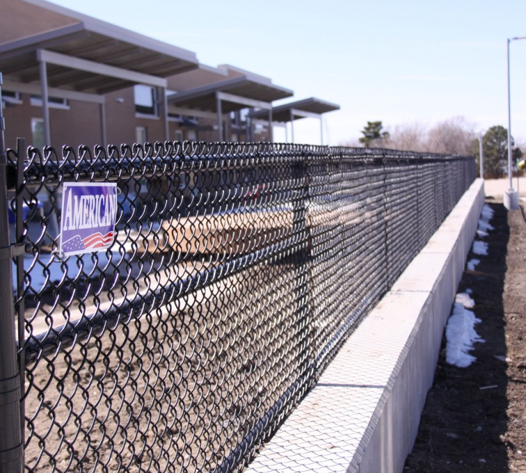 AFC Ames - Chain Link Fencing, Black Vinyl Chain Link Track Fence