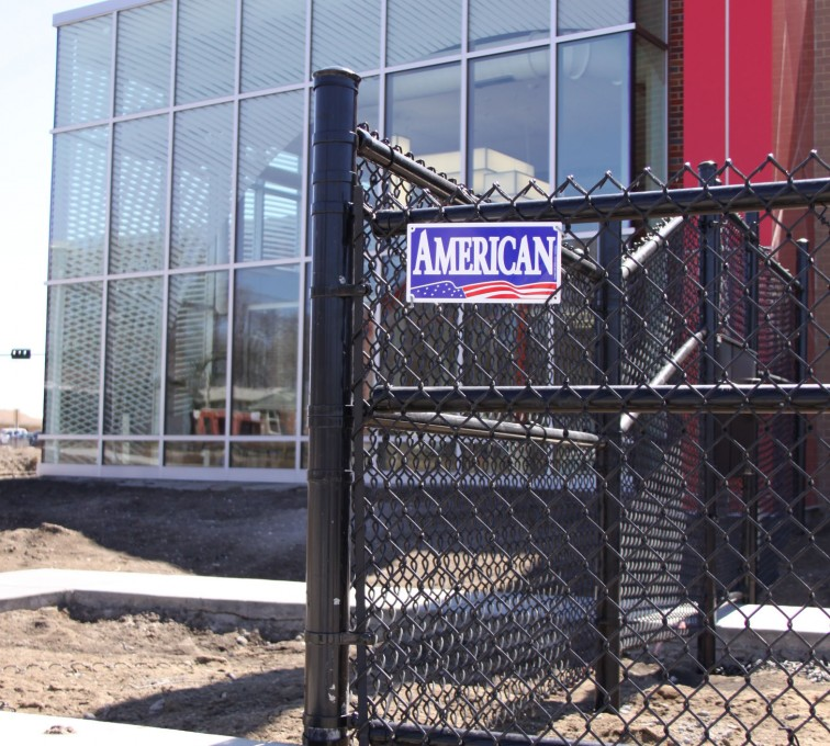 AFC Ames - Chain Link Fencing, Black vinyl chain link