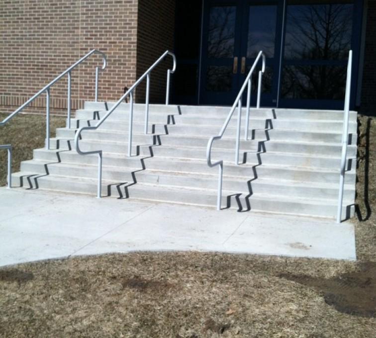 AFC Ames - Custom Railing, Custom Galvanized Handrail 3 - AFC - IA