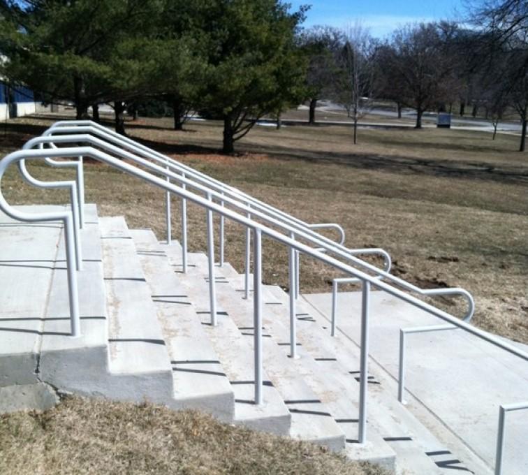 AFC Ames - Custom Railing, Custom Galvanized Handrail 4 - AFC - IA