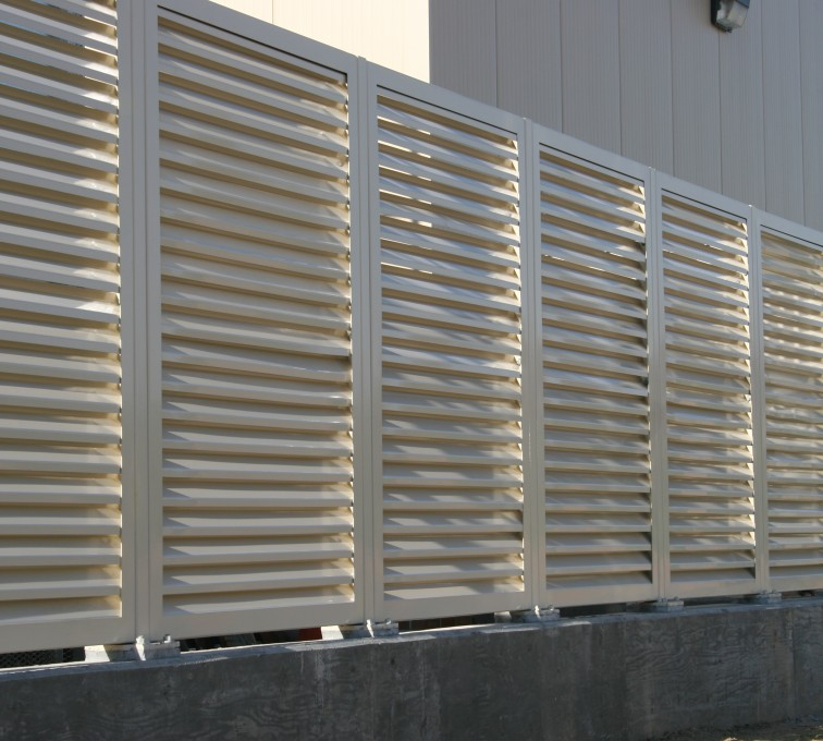 AFC Ames - Louvered Fence Systems Fencing, Louvered Fence Panel System In Tan