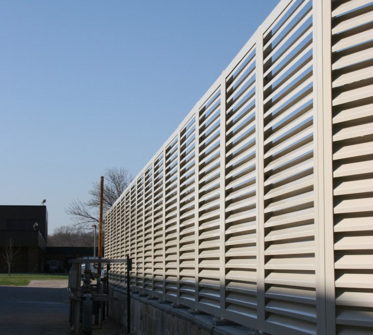 AFC Ames - Louvered Fence Systems Fencing, Louvered Fence Panel Top Cap
