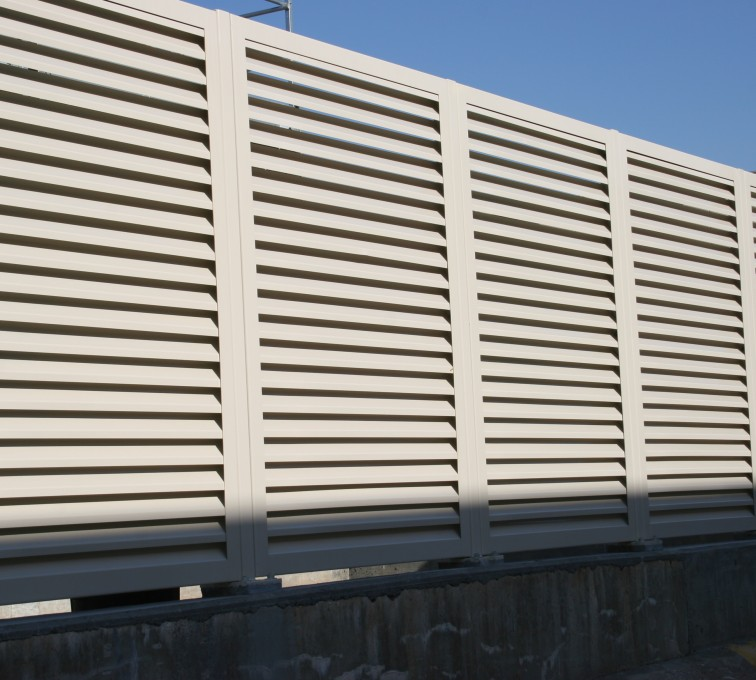 AFC Ames - Louvered Fence Systems Fencing, Steel Louvered Fence System